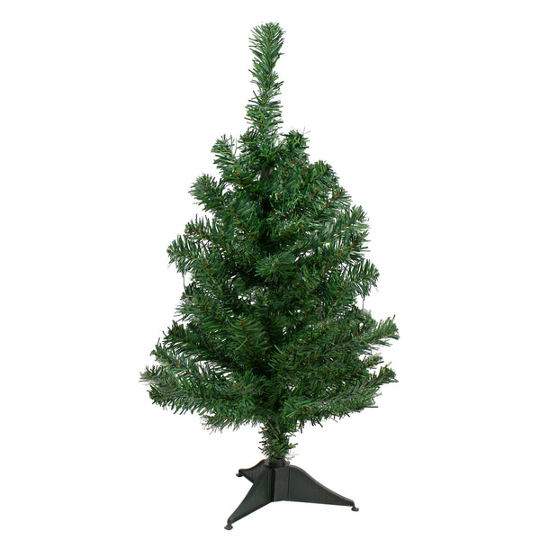 2' Medium Two-Tone Mixed Green Pine Artificial Christmas Tree - Unlit