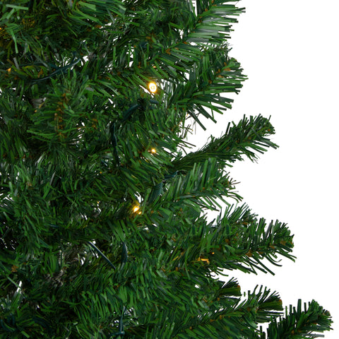 4' Pre-Lit Mixed Classic Pine Medium Artificial Christmas Tree - Warm Clear LED Lights