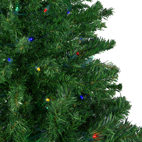 4' Pre-Lit Mixed Classic Pine Medium Artificial Christmas Tree - Multi LED Lights
