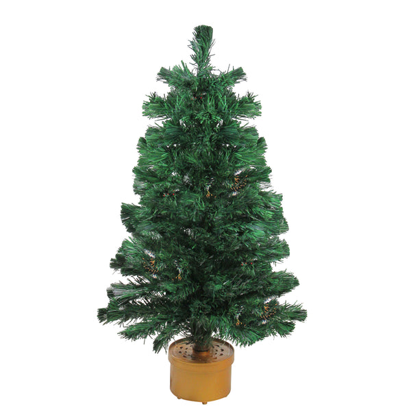 3' Pre-Lit Color Changing Fiber Optic Artificial Christmas Tree