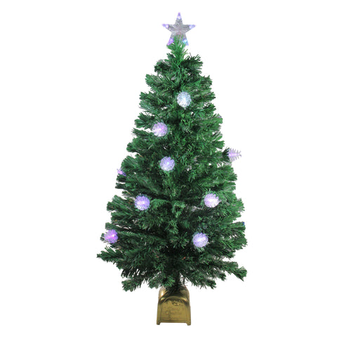 4' Pre-Lit Fiber Optic Pine Cone Artificial Christmas Tree - LED Multi Lights