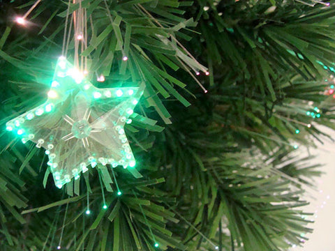 3' Pre-Lit Fiber Optic Artificial Christmas Tree with Stars