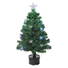 3' Pre-Lit Color Changing Fiber Optic Christmas Tree with Stars