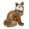 "10.25"" Plush Brown Sitting Fox Figure Animal Decoration"