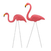 Set of 2 Tropical Pink Flamingo Outdoor Lawn Stakes 33""