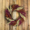 Autumn Harvest Mixed Heather Artificial Grapevine Wreath - Pink and Orange, 22-Inch