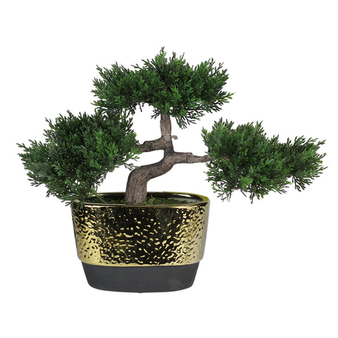 "10"" Potted Artificial Japanese Bonsai Tree"