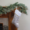 "20.5"" Metallic Silver and Gold Flourish Christmas Stocking with Curved Cuff"