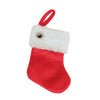 "6"" Red Velvet Christmas Stocking with Cuff and Silver Bell Accent"