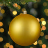 "Matte Vegas Gold Shatterproof Christmas Ball Ornament 4"" (100mm)"