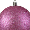 "Holographic Glitter Pink Shatterproof Christmas Ball Ornament 4"" (100mm)"