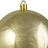 "Shiny Gold Shatterproof Christmas Ball Ornament 4"" (100mm)"