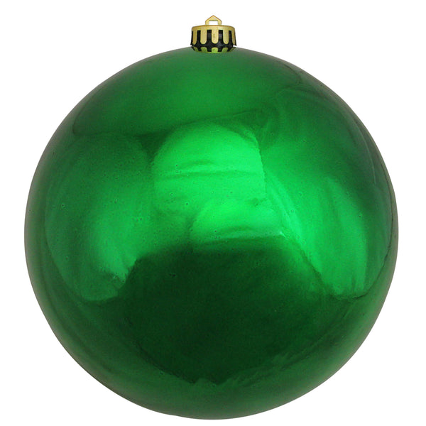 "Shiny Green Shatterproof Commercial Sized Christmas Ball Ornament 8"" (200mm)"