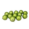 "12ct Matte Kiwi Green Shatterproof Christmas Ball Ornaments 4"" (100mm)"