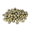 "96ct Champagne Gold Shatterproof 4-Finish Christmas Ball Ornaments 1.5"" (35mm)"