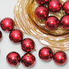"32ct Burgundy Red Shatterproof Shiny Christmas Ball Ornaments 3.25"" (80mm)"