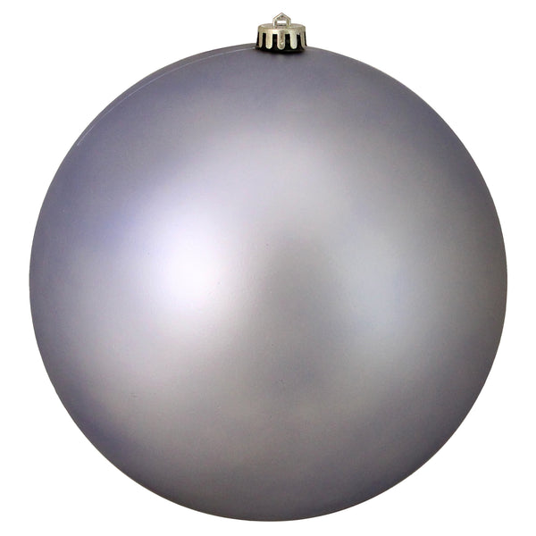 "Matte Purple and Silver Shatterproof Christmas Ball Ornament 10"" (250mm)"