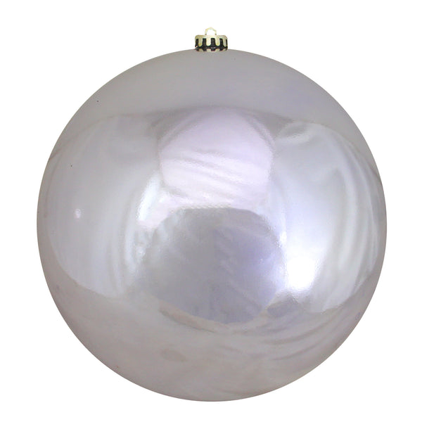 "Shiny Silver Shatterproof Christmas Ball Ornament 10"" (250mm)"