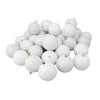 "32ct Winter White 4-Finish Shatterproof Christmas Ball Ornaments 3.25"" (80mm)"