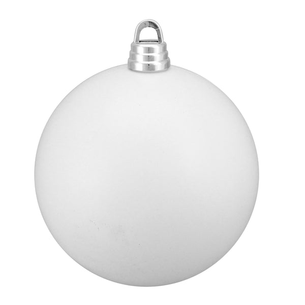 "Matte Winter White Shatterproof Christmas Ball Ornament 12"" (300mm)"
