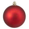 "16ct Hot Red Shatterproof 4-Finish Christmas Ball Ornaments 3"" (75mm)"