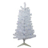 3' Pre-Lit White Medium Pine Artificial Christmas Tree - Blue Lights