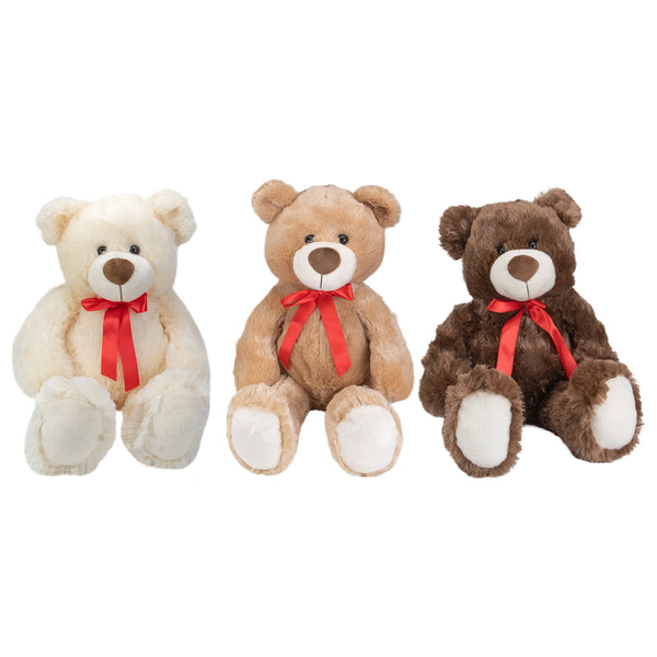 Set of 3 Brown and Cream Plush Children's Teddy Bear Stuffed Animal Toys 20""