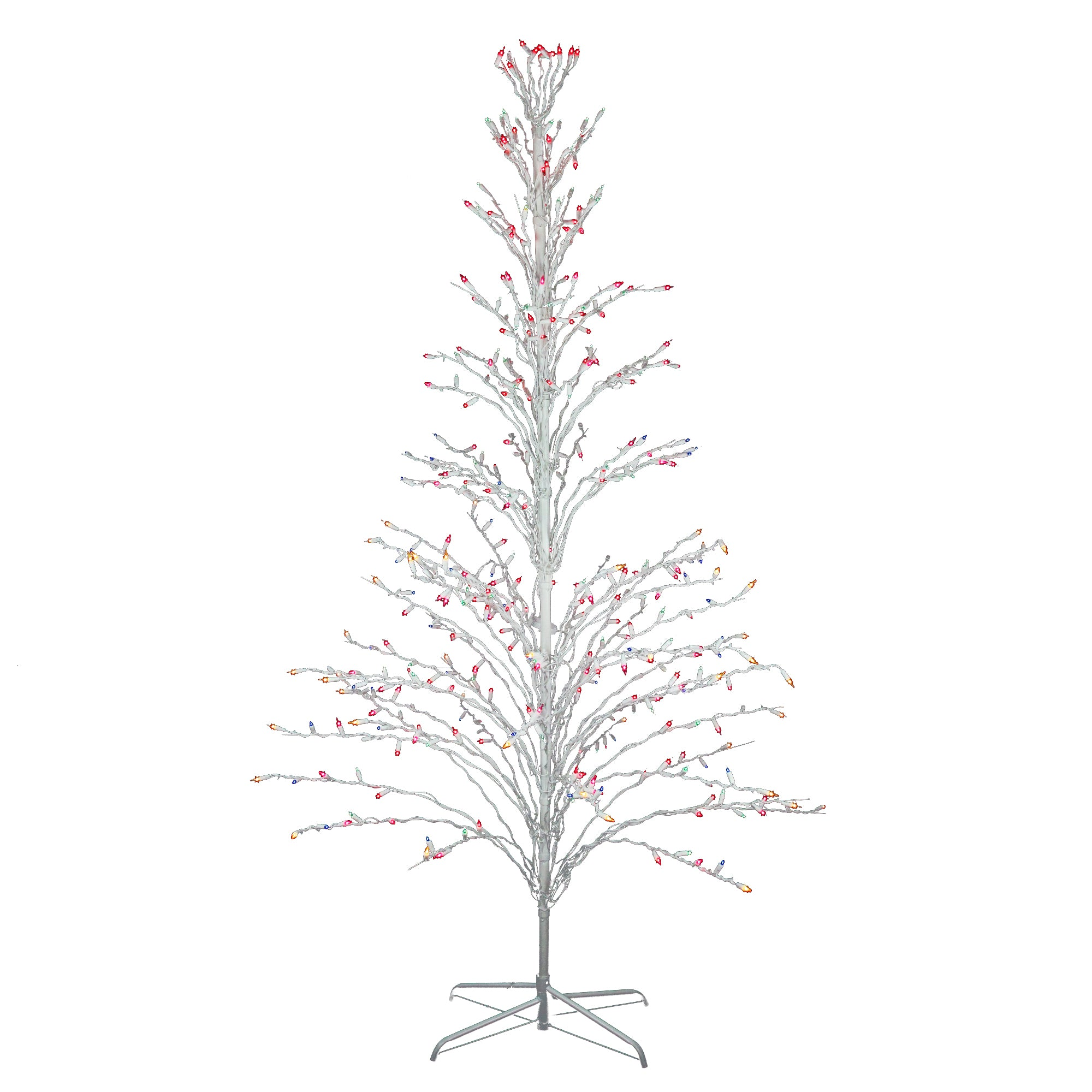 6 white lighted christmas cascade twig tree outdoor decoration 6 white lighted christmas cascade twig tree outdoor decoration multi lights aloadofball Gallery