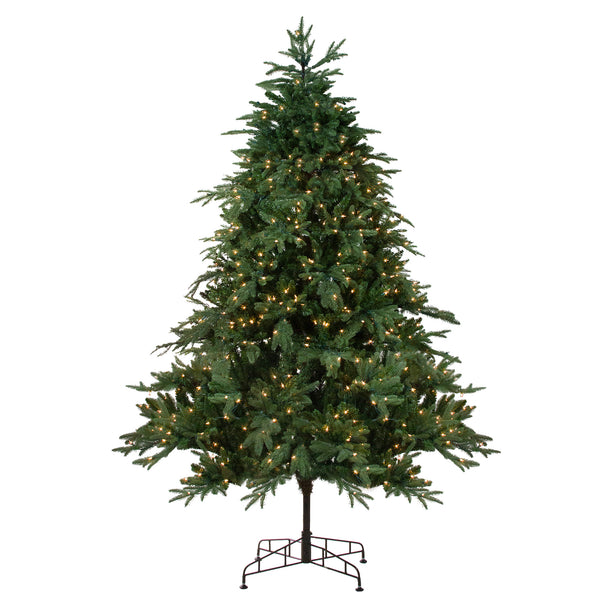 9' Pre-Lit Aurora Spruce Full Artificial Christmas Tree - Clear Lights
