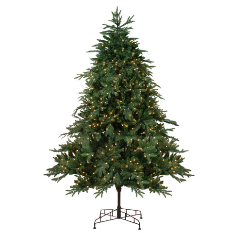 7.5' Pre-Lit Aurora Spruce Artificial Christmas Tree - Clear Lights