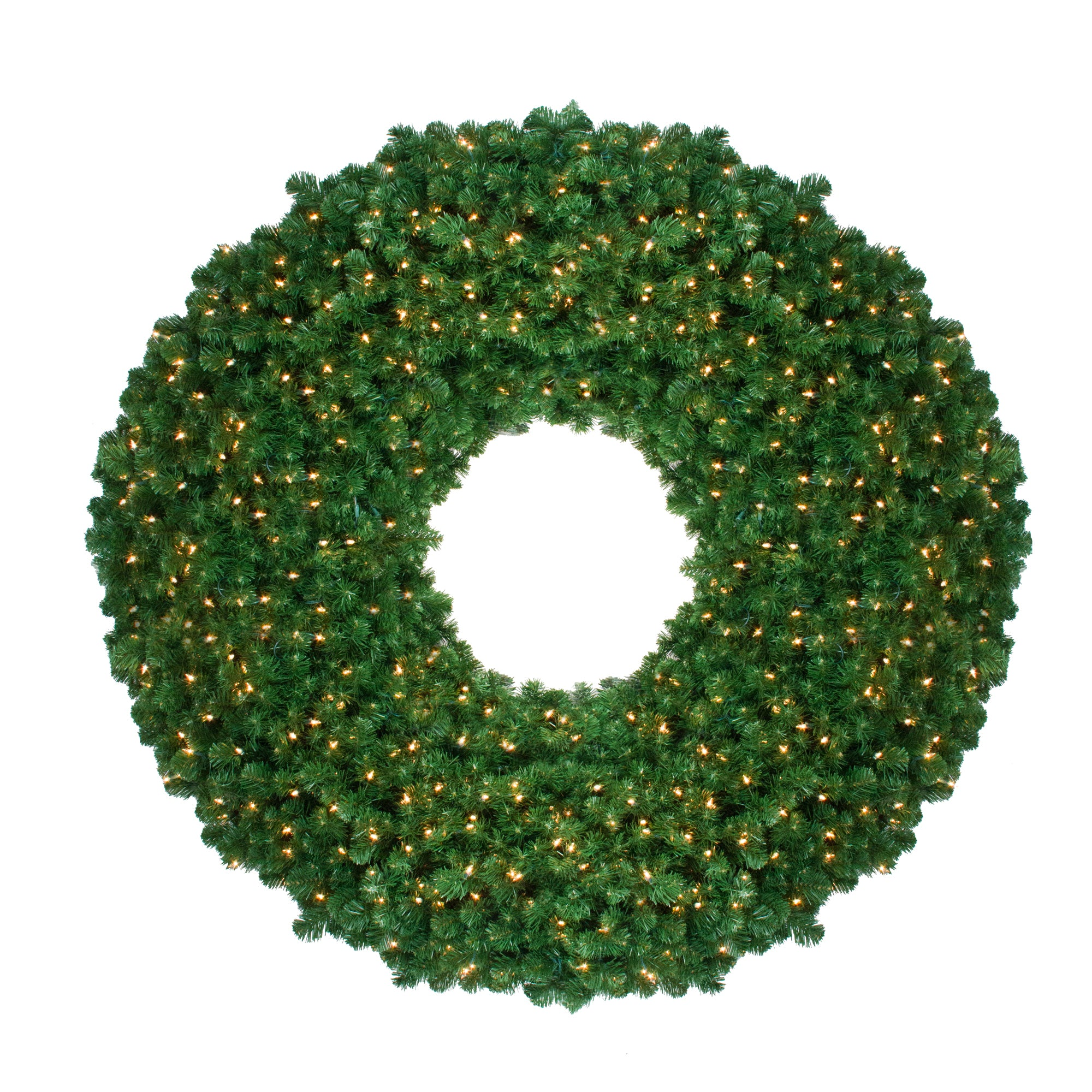 pre lit olympia pine artificial christmas wreath 60 inch clear lights