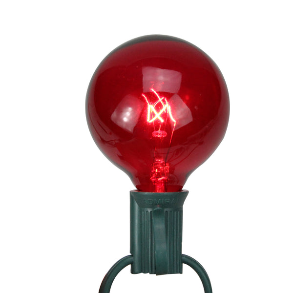 Pack of 25 Red G50 Incandescent Christmas Replacement Bulbs