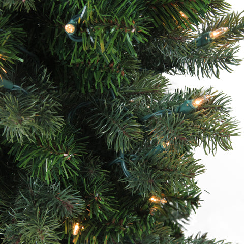 4' Pre-Lit Savannah Spruce Slim Artificial Christmas Tree - Clear Lights