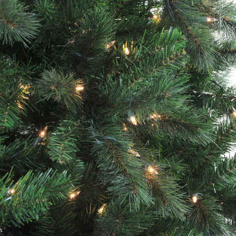 7.5' Pre-Lit Mixed Scotch Pine Artificial Christmas Tree - Clear Lights