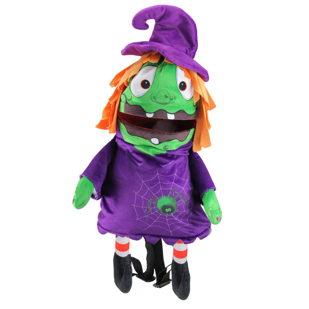 musical animated witch children's halloween trick or treat bag