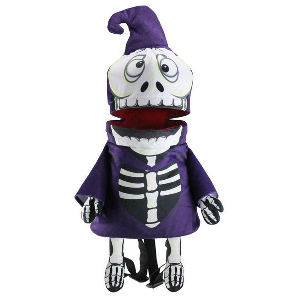 "24"" Purple and Black Skeleton Unisex Child Halloween Trick or Treat Bag Costume Accessory - One Size"