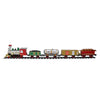 17-Piece Battery Operated Lighted and Animated Christmas Express Train Set with Sound