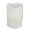 "8"" White Battery Operated Flameless LED Wick Flickering Pillar Candle"