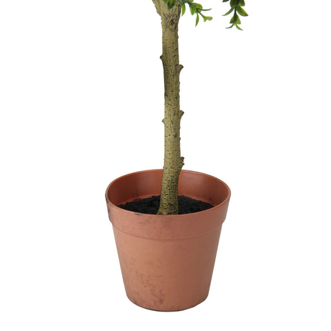 "26"" Potted Two-Tone Artificial Sweet Grass Tree"