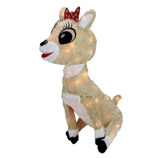 "15"" Pre-lit Rudolph the Red Nosed Reindeer Clarice Christmas Outdoor Decor"