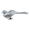 "6"" Silver Glittered Bird Clip-On Christmas Ornament"