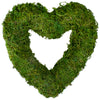 Reindeer Moss Heart Twig Artificial Wreath, Green 13.5-Inch