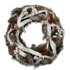 Birch Bark and Pine Cones Artificial Christmas Wreath - 13.5-Inch, Unlit
