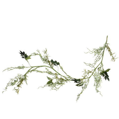 5' Green Mixed Berry and Spring Floral Artificial Garland