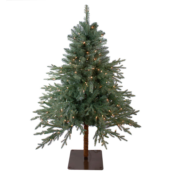 4.5' Pre-Lit Full Fairbanks Alpine Artificial Christmas Tree - Clear Lights
