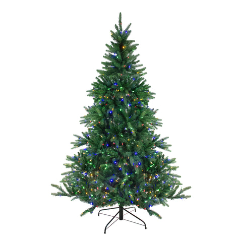 9' Pre-Lit LED Instant Connect Noble Fir Artificial Christmas Tree - Dual Lights