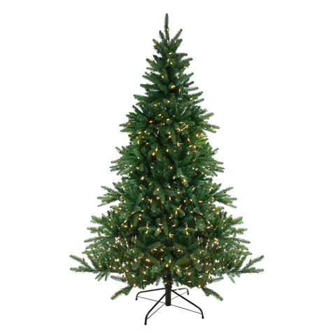 12' Pre-Lit LED Instant Connect Noble Fir Artificial Christmas Tree - Dual Lights