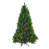 7.5' Pre-Lit Medium Huron Pine Artificial Christmas Tree - Dual Color LED Lights