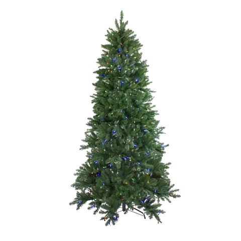 12' Pre-Lit Instant Connect LED Neola Fraser Fir Artificial Christmas Tree - Multicolor Lights