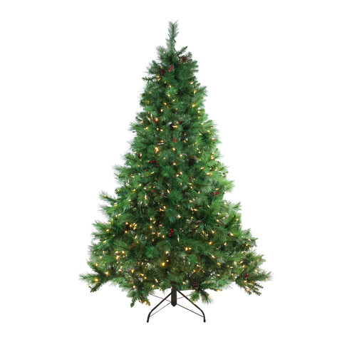 7.5' Pre-Lit LED Instant-Connect Denali Mixed Pine Artificial Christmas Tree - Dual Lights